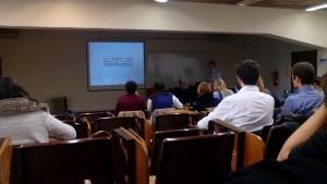 """João Canavilhas na conferência """"O jornalismo em 2025: o que mudou na última década"""" Fotografia por Mariana Calisto"""